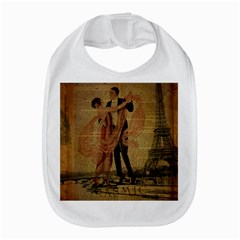 Vintage Paris Eiffel Tower Elegant Dancing Waltz Dance Couple  Bib