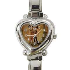 Vintage Paris Eiffel Tower Elegant Dancing Waltz Dance Couple  Heart Italian Charm Watch
