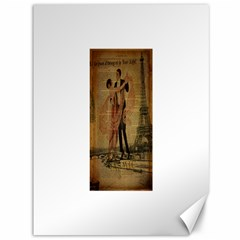 Vintage Paris Eiffel Tower Elegant Dancing Waltz Dance Couple  Canvas 36  X 48  (unframed) by chicelegantboutique
