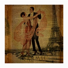 Vintage Paris Eiffel Tower Elegant Dancing Waltz Dance Couple  Glasses Cloth (medium, Two Sided) by chicelegantboutique
