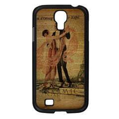 Vintage Paris Eiffel Tower Elegant Dancing Waltz Dance Couple  Samsung Galaxy S4 I9500/ I9505 (black)