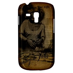 Romantic Kissing Couple Love Vintage Paris Eiffel Tower Samsung Galaxy S3 Mini I8190 Hardshell Case by chicelegantboutique