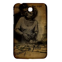 Romantic Kissing Couple Love Vintage Paris Eiffel Tower Samsung Galaxy Tab 3 (7 ) P3200 Hardshell Case  by chicelegantboutique