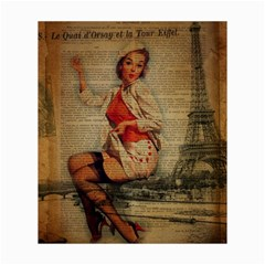 Vintage Newspaper Print Pin Up Girl Paris Eiffel Tower Funny Vintage Retro Nurse  Canvas 20  X 24  (unframed)