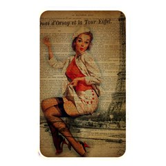 Vintage Newspaper Print Pin Up Girl Paris Eiffel Tower Funny Vintage Retro Nurse  Memory Card Reader (rectangular) by chicelegantboutique
