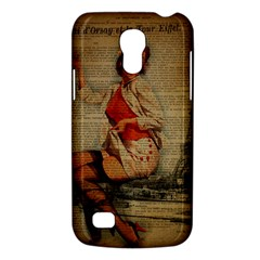 Vintage Newspaper Print Pin Up Girl Paris Eiffel Tower Funny Vintage Retro Nurse  Samsung Galaxy S4 Mini Hardshell Case  by chicelegantboutique