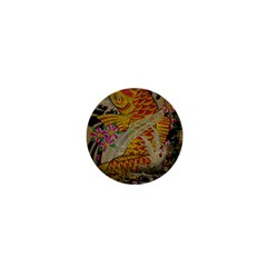 Funky Japanese Tattoo Koi Fish Graphic Art 1  Mini Button Magnet by chicelegantboutique