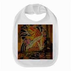 Funky Japanese Tattoo Koi Fish Graphic Art Bib by chicelegantboutique