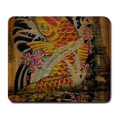 Funky Japanese Tattoo Koi Fish Graphic Art Large Mouse Pad (rectangle) by chicelegantboutique