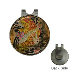Funky Japanese Tattoo Koi Fish Graphic Art Hat Clip With Golf Ball Marker by chicelegantboutique