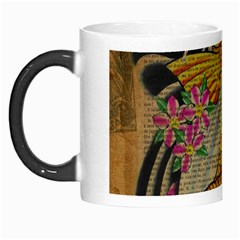 Funky Japanese Tattoo Koi Fish Graphic Art Morph Mug by chicelegantboutique