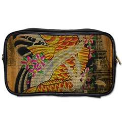 Funky Japanese Tattoo Koi Fish Graphic Art Travel Toiletry Bag (one Side)