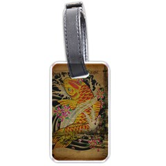 Funky Japanese Tattoo Koi Fish Graphic Art Luggage Tag (two Sides) by chicelegantboutique