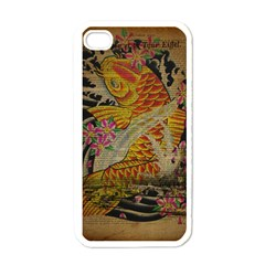 Funky Japanese Tattoo Koi Fish Graphic Art Apple Iphone 4 Case (white) by chicelegantboutique