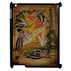 Funky Japanese Tattoo Koi Fish Graphic Art Apple Ipad 2 Case (black)
