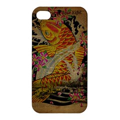 Funky Japanese Tattoo Koi Fish Graphic Art Apple Iphone 4/4s Premium Hardshell Case by chicelegantboutique