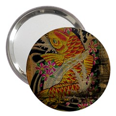 Funky Japanese Tattoo Koi Fish Graphic Art 3  Handbag Mirror by chicelegantboutique