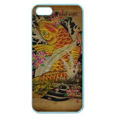 Funky Japanese Tattoo Koi Fish Graphic Art Apple Seamless Iphone 5 Case (color) by chicelegantboutique