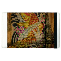 Funky Japanese Tattoo Koi Fish Graphic Art Apple Ipad 2 Flip Case by chicelegantboutique