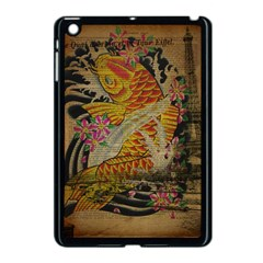 Funky Japanese Tattoo Koi Fish Graphic Art Apple Ipad Mini Case (black) by chicelegantboutique