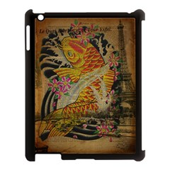 Funky Japanese Tattoo Koi Fish Graphic Art Apple Ipad 3/4 Case (black) by chicelegantboutique