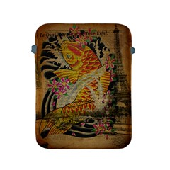 Funky Japanese Tattoo Koi Fish Graphic Art Apple Ipad 2/3/4 Protective Soft Case by chicelegantboutique