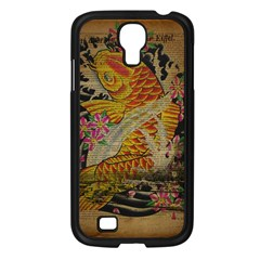 Funky Japanese Tattoo Koi Fish Graphic Art Samsung Galaxy S4 I9500/ I9505 (black) by chicelegantboutique