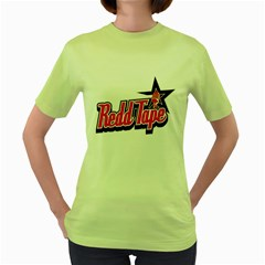 Redd Tape Womens  T Shirt (green) by Contest1703156