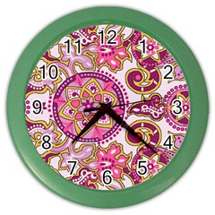 Floral Fantasy Wall Clock (color) by Contest1702305