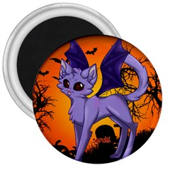 Serukivampirecat 3  Button Magnet by Kittichu