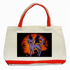 Serukivampirecat Classic Tote Bag (red) by Kittichu