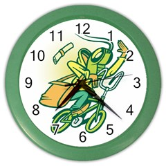 Paperboy Wall Clock (color) by Contest1738792