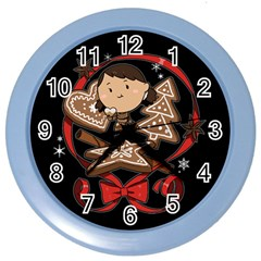 Holiday Wall Clock (color)