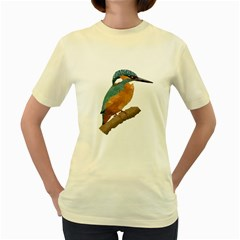 Kingfisher  Womens  T-shirt (yellow) by Janko
