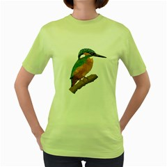 Kingfisher Womens  T-shirt (green) by Janko