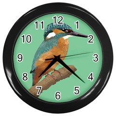 Kingfisher Wall Clock (black) by Janko