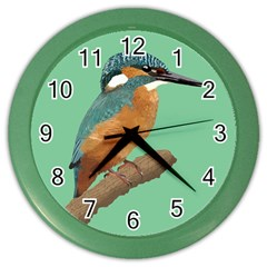 Kingfisher Wall Clock (color) by Janko