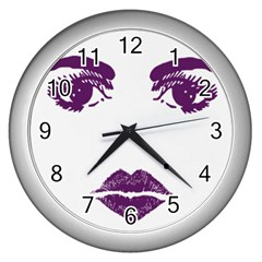 Bedroom Eyes Wall Clock (silver)