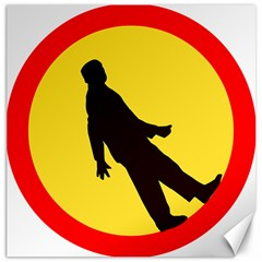 Walking Traffic Sign Canvas 12  X 12  (unframed) by youshidesign