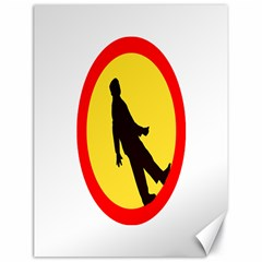 Walking Traffic Sign Canvas 18  X 24  (unframed) by youshidesign