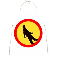 Walking Traffic Sign Apron by youshidesign