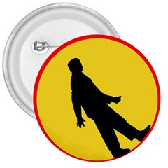 Walking Traffic Sign 3  Button by youshidesign