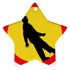 Walking Traffic Sign Star Ornament by youshidesign