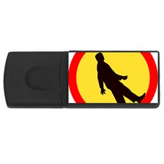 Walking Traffic Sign 4gb Usb Flash Drive (rectangle) by youshidesign