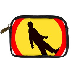 Walking Traffic Sign Digital Camera Leather Case by youshidesign