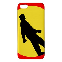 Walking Traffic Sign Iphone 5 Premium Hardshell Case by youshidesign
