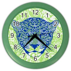 Cheetah Alarm Wall Clock (color) by Contest1738807