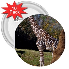 Giraffe 3  Button (10 Pack)