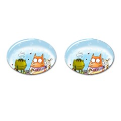 Apron Cufflinks (oval)