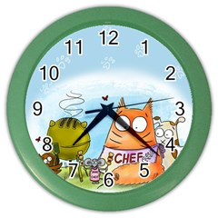 Apron Wall Clock (color) by PookieCatWorld